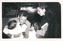 Frank Sinatra with wife and two children Postcard
