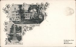 Phillips Inn, Old Stowe House, Harriet Beecher Stowe Grave Postcard