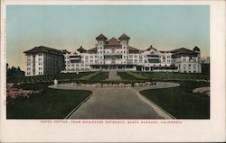 Hotel Potter from Boulevard Entrance Postcard