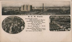 N.C.R. Facts, factory, assembling department, Welfare hall men dining room Postcard