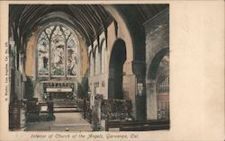 Interior of Church of the Angels Postcard