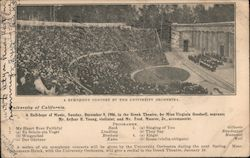 Symphony Concert by the University Orchestra - Greek Theatre Postcard