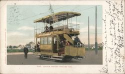 6116 Double Decker Trolley Car Postcard