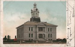 Madera County Court House Postcard