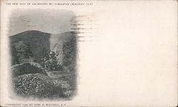 The new way of ascending Mt. Tamalpais (Mckinley cut) by train Postcard