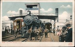 Solano car ferry. Train, Trolley Postcard