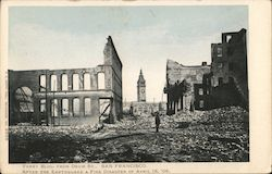 Ferry Building from Drum St After the Earthquake and Fire Disaster of April 18, 1906 Postcard