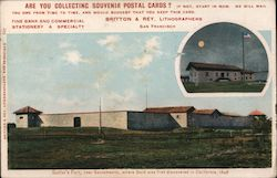 Rare: Sutter's Fort, near Sacramento, where Gold was first discovered in California Postcard