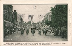 Bardstown on Day My Old Kentucky Home was Dedicated to the State, July 4, 1923 Postcard