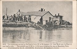 This House was Carried by the Flood of July 29 Postcard