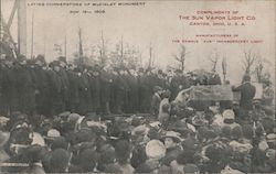 Laying Cornerstone of McKinley Monument, Nov. 16th, 1905 Postcard
