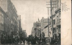 Market Street Looking North, Flood of March 1907 Postcard