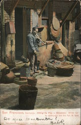 Hitting the pipe in China Town. driven out by earthquake and fire Apr. 18, 1906 Postcard