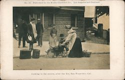 Cooking in the Streets after the Fire Postcard