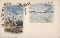 Tlingit Village and Taku Bay - Alaska 9 Postcard