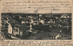 Section of Watsonville, looking West Postcard