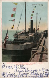 "Wharf at Port Rogers Showing Steamer ""Kilburn"" Postcard"