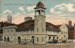 Central Fire and Police Station Postcard