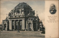 Temple of Music where President McKinley was shot. Sept, 6th, 1901 Postcard