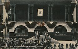 Court House Draped For McKinley Funeral Postcard