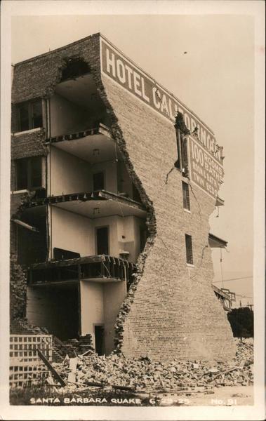 Hotel California Santa Barbara Quake