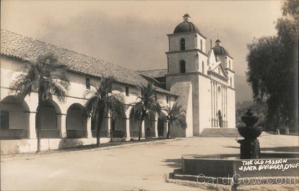 The Old Mission, fountain Santa Barbara California