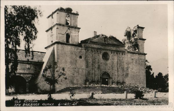 Earthquake Damage Old Mission 06-29-1925 Santa Barbara California