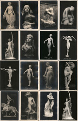 Lot of 16: PPIE Sculptures and Statues #2 Postcard