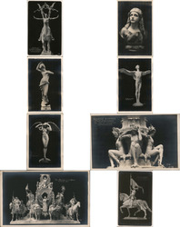 Lot of 8: PPIE Sculptures and Statues Postcard