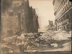 San Francisco rubble after the 1906 Earthquake Original Photograph