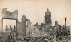 San Francisco City Hall after the 1906 Earthquake Original Photograph