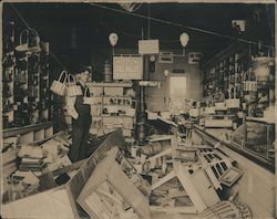 Damage to general store Original Photograph