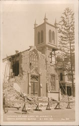 Church of Our Lady of Sorrows - Santa Barbara Quake Postcard