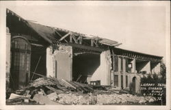 Earthquake damage to Library Bldg 6-29-1925