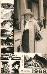 Tourist in Peru, 1968 Postcard