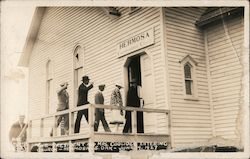 The President and Mrs. Coolidge Entering Church Postcard