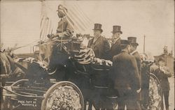 President Taft in His Carriage, 1912 Postcard