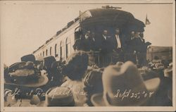 Taft at whistle stop Sept. 25, 1908 Postcard