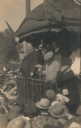 President Taft on whistle stop from back of train Postcard