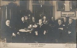 Ex-President McKinley and His Cabinet Postcard