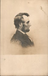 Abraham Lincoln Profile Postcard