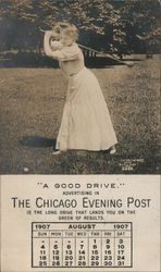 A Good Drive: ad for advertising in the Chicago Evening Post Postcard