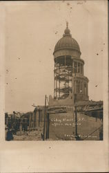 City Hall After the Fire Postcard