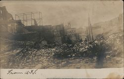 Rubble after the 1906 Earthquake and Fire Postcard