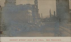 Market Street and City Hall Postcard
