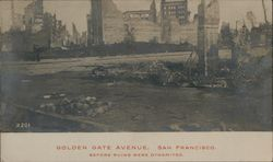 Golden Gate Avenue Postcard