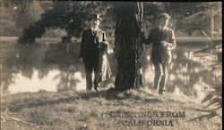 Unknown Visitors to Golden Gate Park Postcard