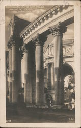 Colonnades on Fine Arts Palace Postcard