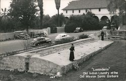 Lavanderia - Old Indian Laundry, Mission Santa Barbara Postcard