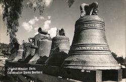 Original Mission Bells, Old Mission Santa Barbara Postcard